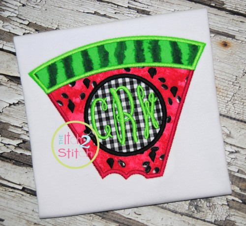 Watermelon Monogram Applique
