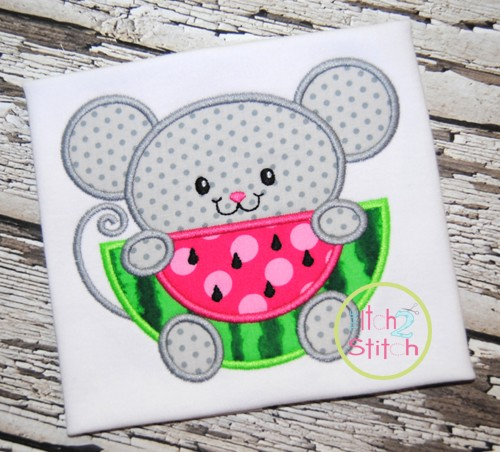 Watermelon Mouse Applique