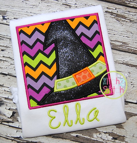 Witch Hat Box Applique