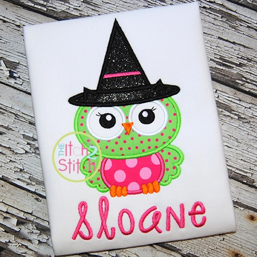 Owl Witch 2 Applique