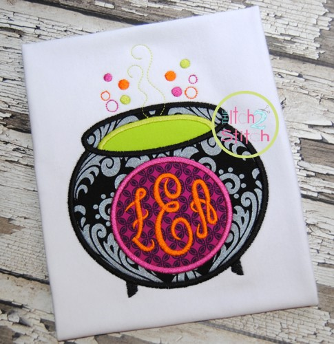 Witches Brew Monogram Applique