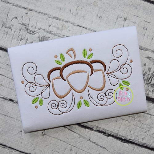 Acorn Flourish Embroidery