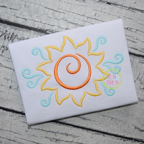 All Occasion Swirly Sun Embroidery