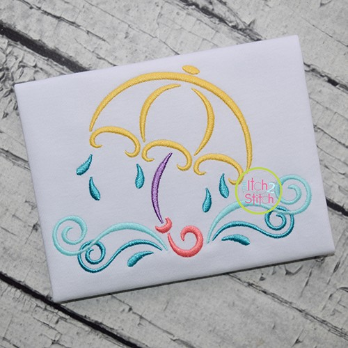 All Occasion Swirly Umbrella Embroidery