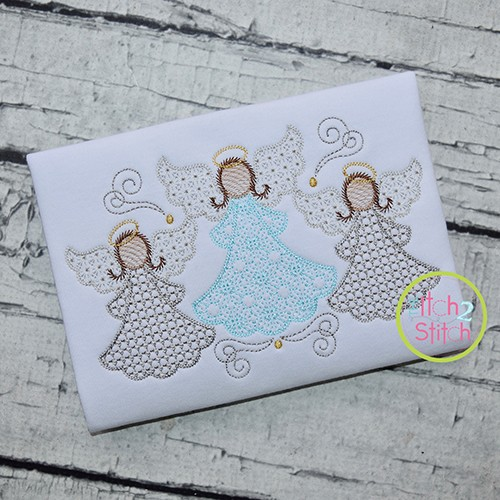 Angel Trio Motif Embroidery