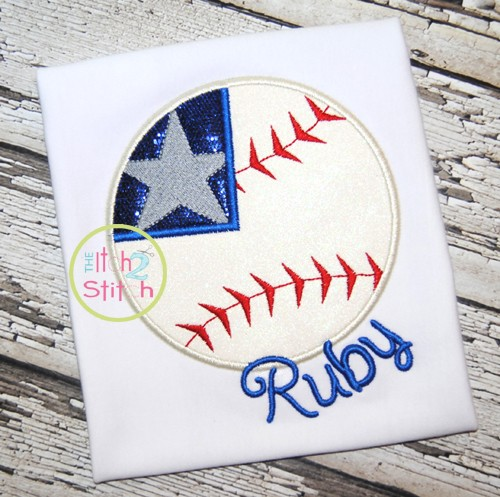 Baseball Flag 2 Applique