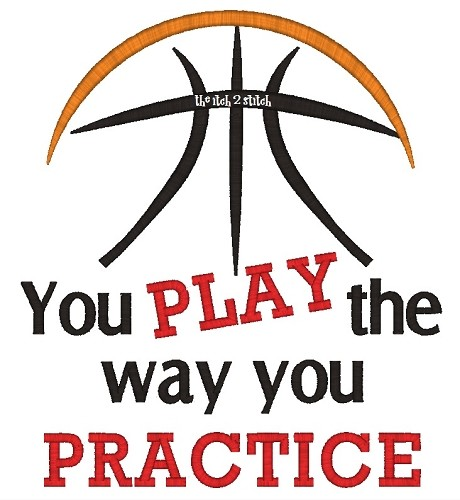 Basketball You Play The Way You Practice