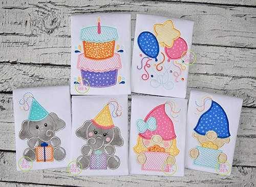 Birthday Applique Design Set
