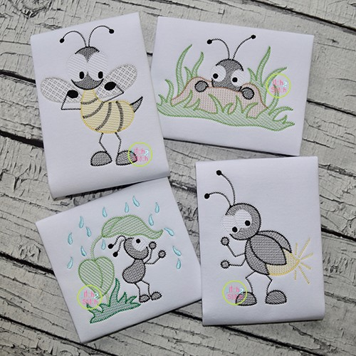 Boy Bugs Sketch Embroidery Set