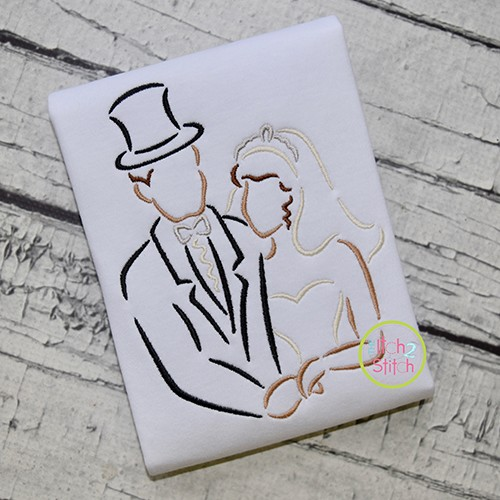 Bride and Groom Embroidery