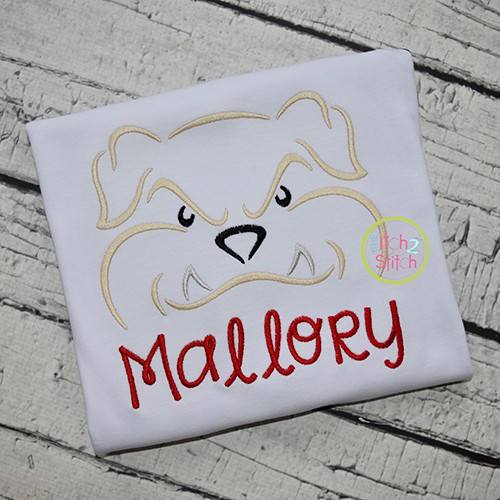 Bulldog Mascot Embroidery