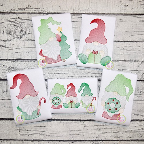 Christmas Gnome Sketch Design Set