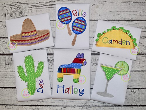 Cinco de Mayo Applique Design Set
