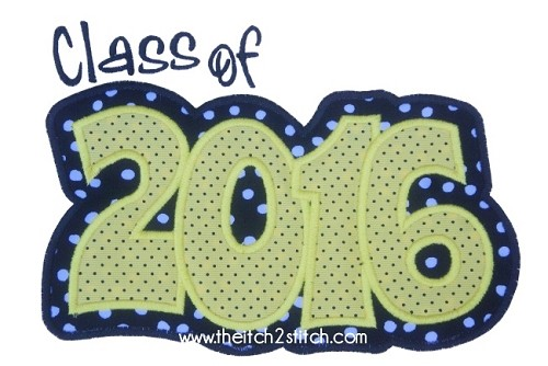 Class of 2016 Double Applique