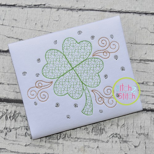 Clover Motif Embroidery Design