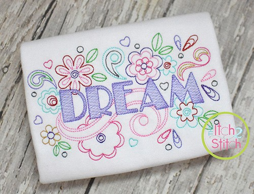 Dream Doodle Embroidery Design