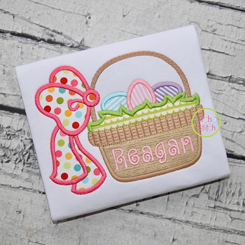 Easter Basket Bow 2 Applique