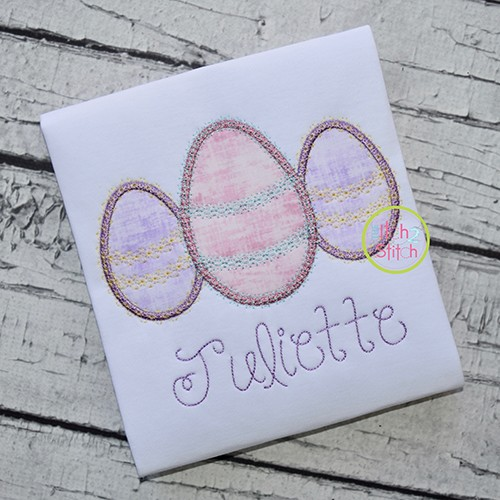 Fancy Egg Trio Applique