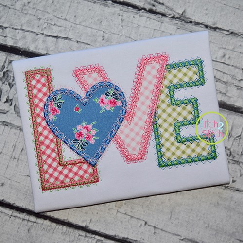 Fancy Love Applique