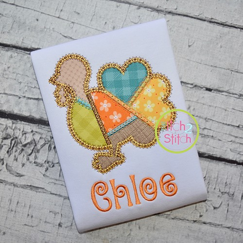 Fancy Patchwork Turkey Applique