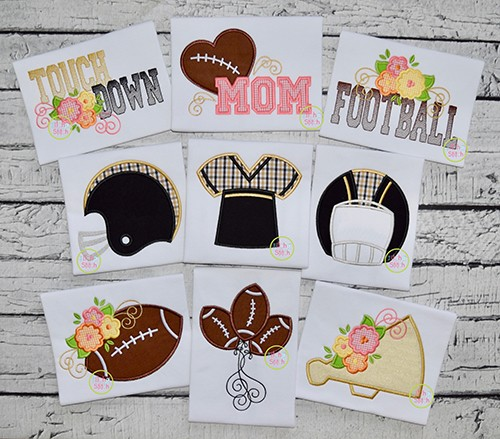 Football Applique Design Set