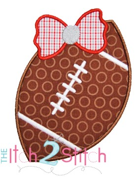Football Bow 2 Applique