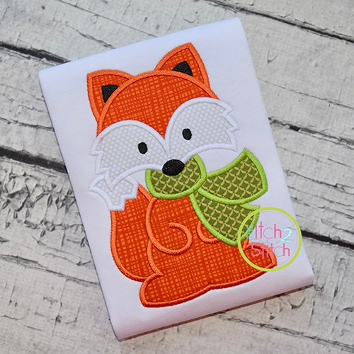 Fox with Scarf Boy Applique