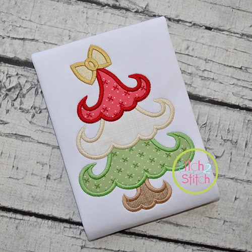 Funky Curly Tree Applique