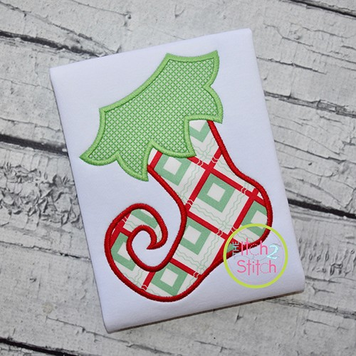 Funky Stocking Applique