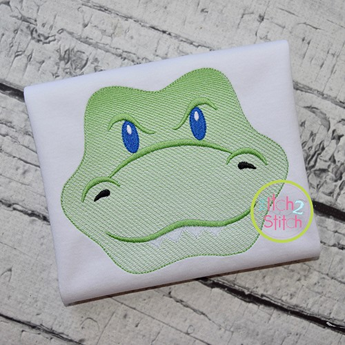 Gator Face Boy Sketch Embroidery