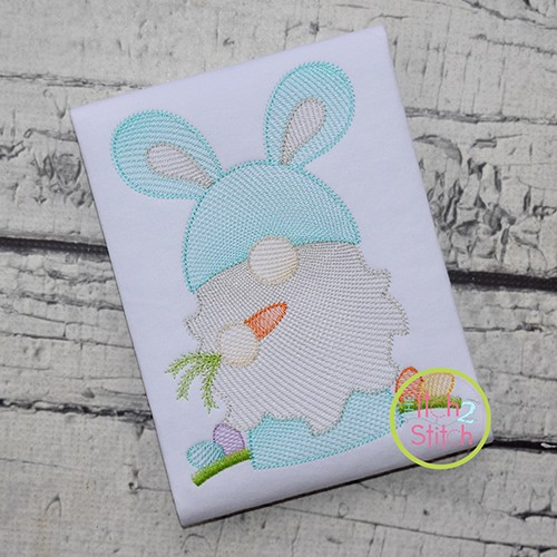 Gnome Bunny Sketch Embroidery