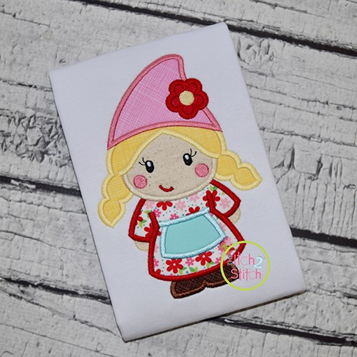 Gnome Girl Applique