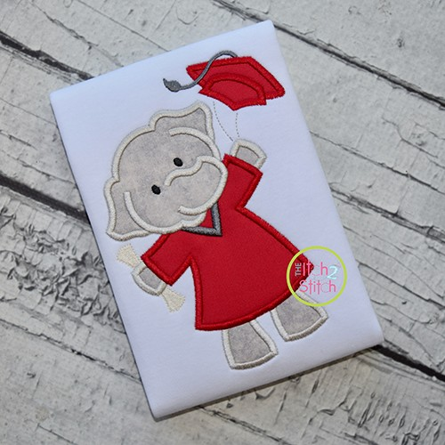 Graduation Elephant Applique