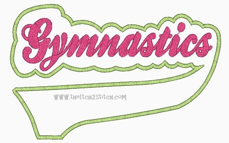 Gymnastics Sport Tail Applique