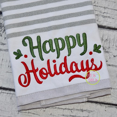 Happy Holidays 2 Embroidery
