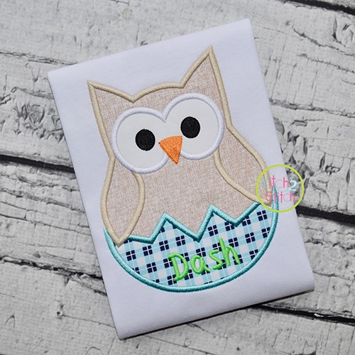 Hatching Owl Applique