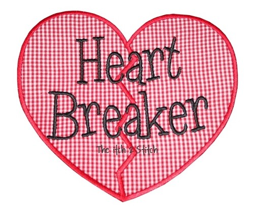 Heart Breaker Applique