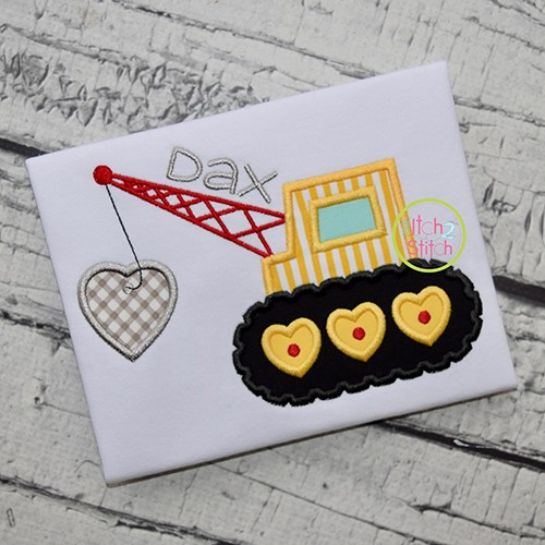Heart Crane Applique