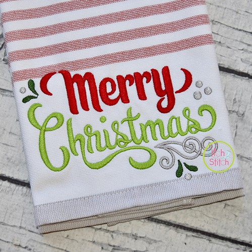 Merry Christmas 4 Embroidery
