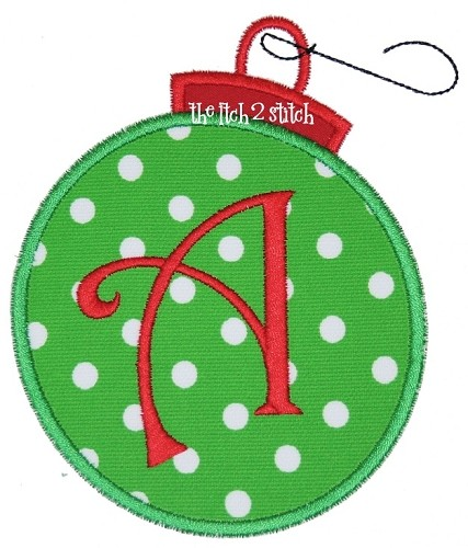 Ornament Applique Alpha Set