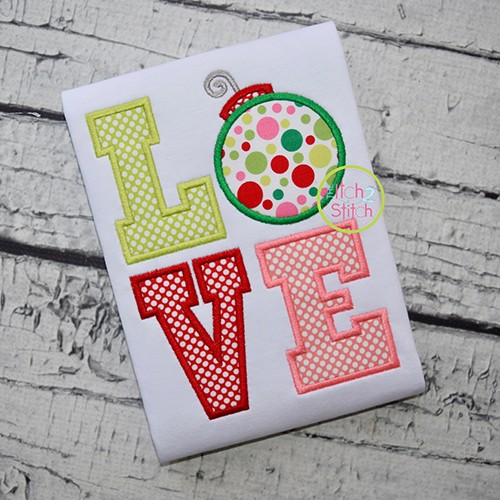 Ornament LOVE Applique