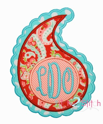 Paisley Monogram Applique