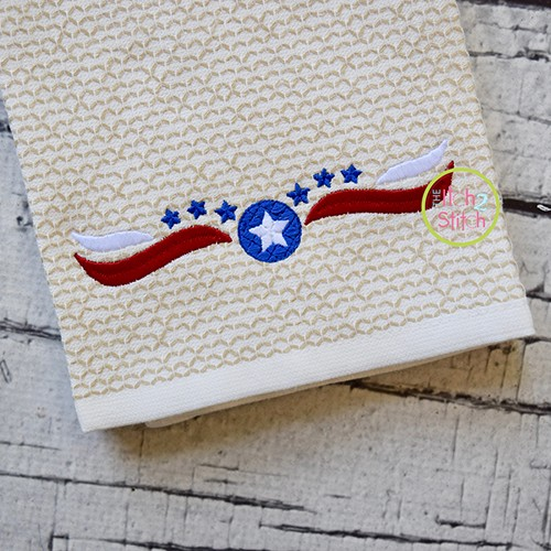 Patriotic Border 1 Embroidery