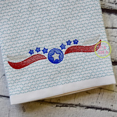 Patriotic Border 1 Sketch Embroidery
