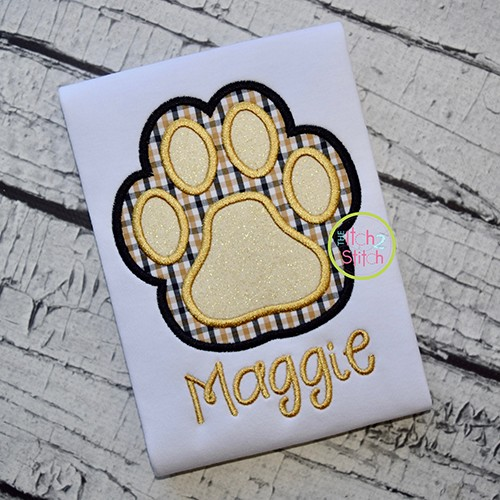 Paw Print Double Applique