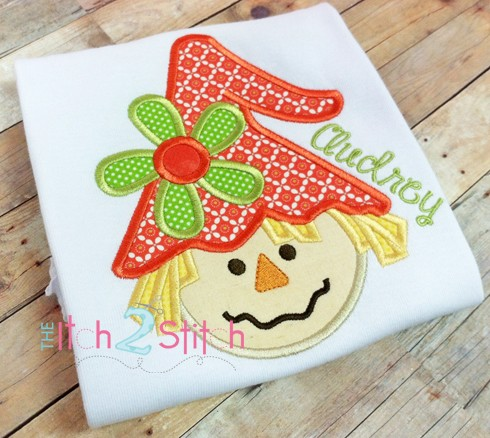 Scarecrow Girl Applique