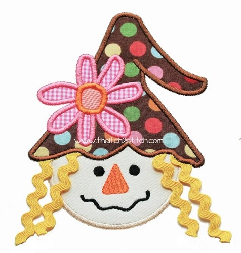 Scarecrow with Trim Hair Applique