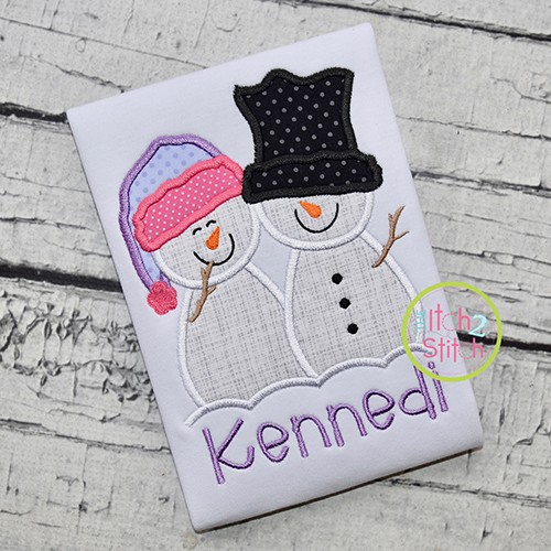 Snow Couple Applique