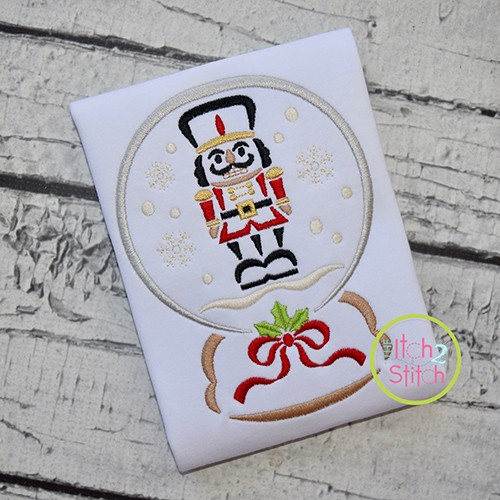 Snow Globe Nutcracker Embroidery
