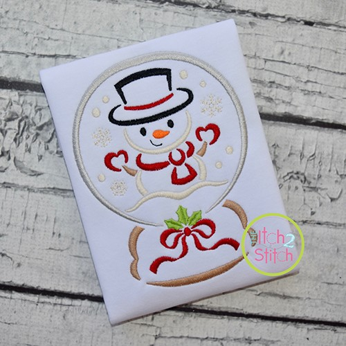 Snow Globe Snowman Embroidery